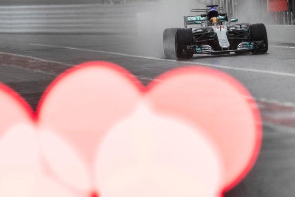 Suzuka Circuit, Japan. Friday 6 October 2017. Lewis Hamilton, Mercedes F1 W08 EQ Power+.  World Copyright: Glenn Dunbar/LAT Images  ref: Digital Image _31I6471