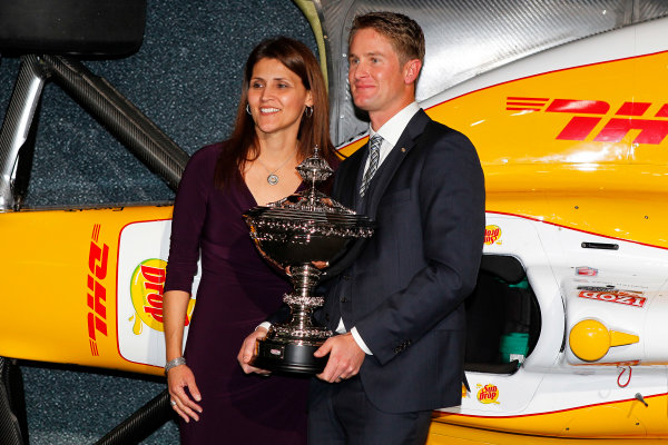 6 December, 2012, Indianapolis, Indiana USA Ryan Hunter-Reay and Sponsor with Astor Cup.(c)2012, Russell LaBounty LAT Photo USA .