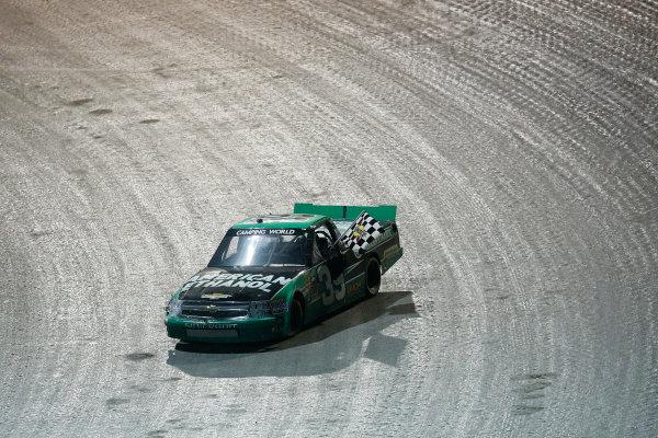 23-24 July, 2013, Rossburg, Ohio, USA Winner Austin Dillon with the checkered flag © 2013, Michael L. Levitt LAT Photo USA