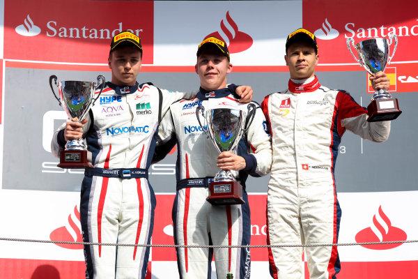 2013 GP3 Series. Round 1.  Circuit de Catalunya, Barcelona, Spain.  12th May Sunday Race 02 Aaro Vainio (  Kevin Korjus (  Patric Niederhauser (  Portrait  World Copyright: Malcolm Griffiths/GP3 Media Service.  Ref: Digital ImageC76D5822.JPG