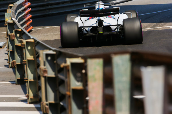 Monte Carlo, Monaco. Thursday 25 May 2017. Lance Stroll, Williams FW40 Mercedes. World Copyright: Charles Coates/LAT Images ref: Digital Image AN7T2866