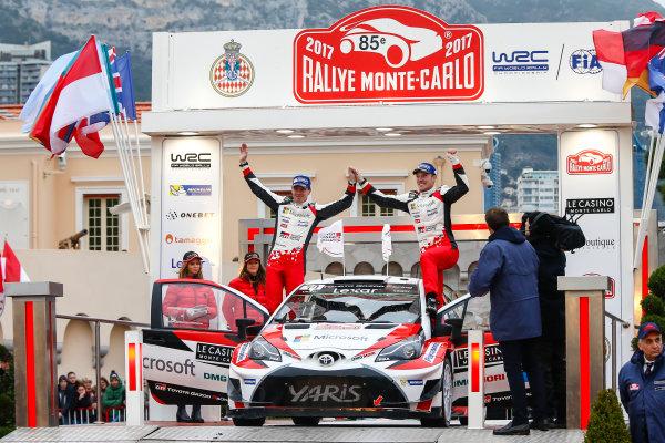 2017 FIA World Rally Championship, Round 01, Rally Monte Carlo, January 18-22, 2017, Jari Matti Latvala, Mikkaa Anttila, Toyota, Podium, Worldwide Copyright: McKlein/LAT