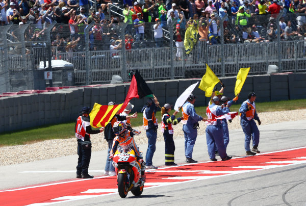 2017 MotoGP Championship - Round 3 Circuit of the Americas, Austin, Texas, USA Sunday 23 April 2017 Second place Dani Pedrosa, Repsol Honda Team World Copyright: Gold and Goose Photography/LAT Images ref: Digital Image MotoGP-R-950-3037