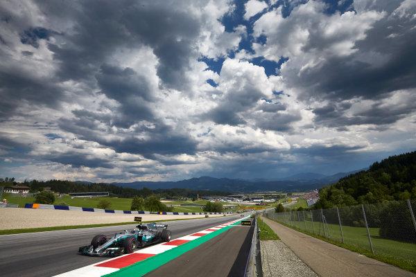 Red Bull Ring, Spielberg, Austria. Friday 7 July 2017. Valtteri Bottas, Mercedes F1 W08 EQ Power+. World Copyright: Steve Etherington/LAT Images ref: Digital Image SNE16803