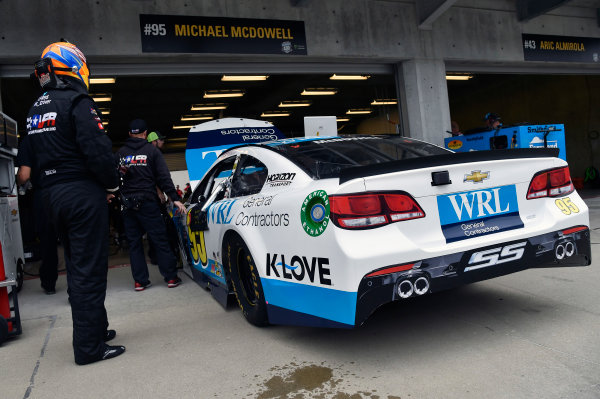 Monster Energy NASCAR Cup Series Brickyard 400 Indianapolis Motor Speedway, Indianapolis, IN USA Saturday 22 July 2017 Michael McDowell, Leavine Family Racing, WRL General Contractors Chevrolet SS World Copyright: Nigel Kinrade LAT Images