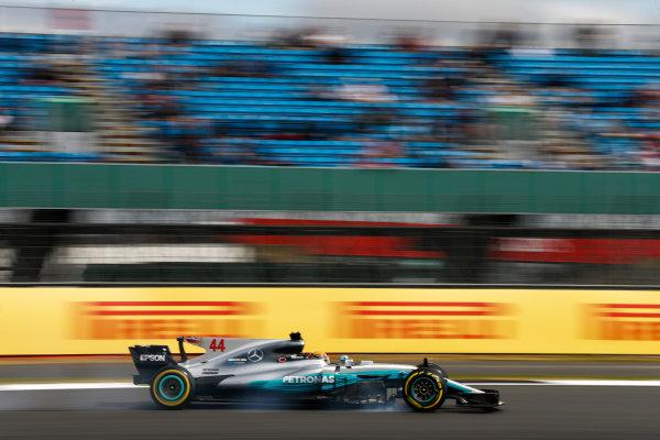 Silverstone, Northamptonshire, UK.  Friday 14 July 2017. Lewis Hamilton, Mercedes F1 W08 EQ Power+. World Copyright: Glenn Dunbar/LAT Images  ref: Digital Image _31I2946
