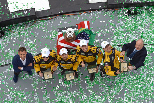 28-31 January, 2016, Daytona Beach, Florida USA Victory Lane / Podium: 85, Chevrolet, ORECA FLM09, PC, Chris Miller, Mikhail Goikhberg, Stephen Simpson, Kenton Koch ?2016, F. Peirce Williams LAT Photo USA