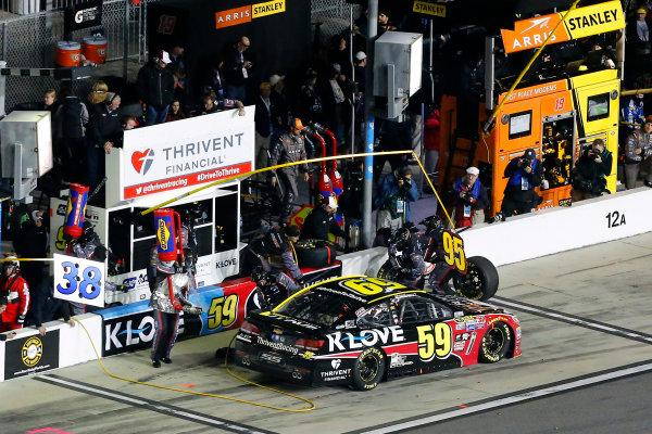 18 February, 2016, Daytona Beach, Florida USA Michael McDowell, Leavine Family Racing pit stop ?2016, Russell LaBounty LAT Photo USA