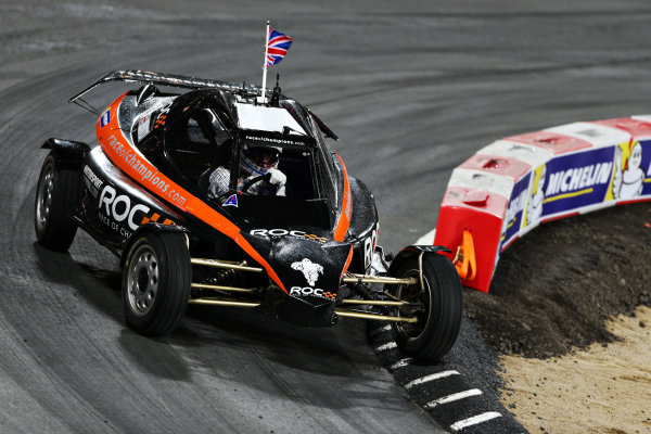 2015 Race Of Champions Olympic Stadium, London, UK Saturday 21 November 2015 Jason Plato (GBR) in the ROC Car Copyright Free FOR EDITORIAL USE ONLY. Mandatory Credit: 'IMP'