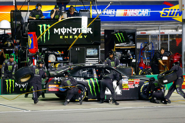 19-20 September, 2014, Sparta, Kentucky USA Sam Hornish Jr, Monster Energy Toyota Camry pit stop ?2014, Russell LaBounty LAT Photo USA