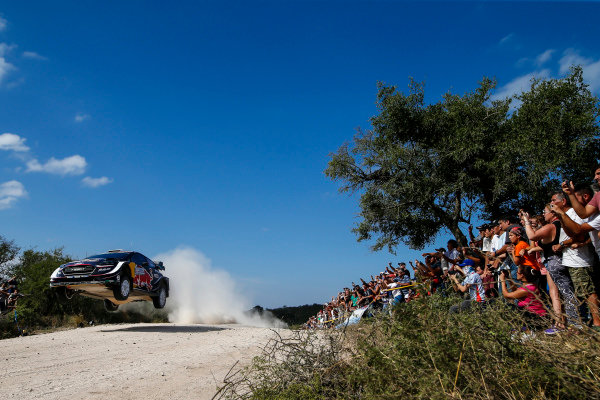 Sebastien Ogier struggled with road position on Rally Argentina having to clear loose gravel again.