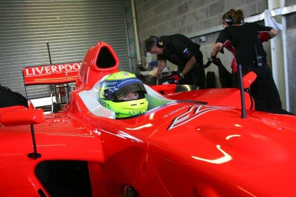 James Walker (GBR) Liverpool FC.  Superleague Formula Testing, Donington, England. 21 August 2008.