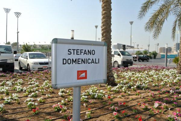 Stefano Domenicali (ITA) Ferrari General Director car parking space sign.Formula One World Championship, Rd17, Abu Dhabi Grand Prix, Preparations, Yas Marina Circuit, Abu Dhabi, UAE, Saturday 26 October 2013.