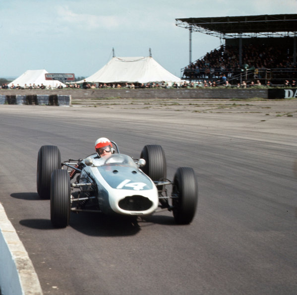 Silverstone, Great Britain. 14th May 1966. John Taylor (Brabham BT11-BRM), 6th position, action.  World Copyright: LAT Photographic. Ref: 3/2074.