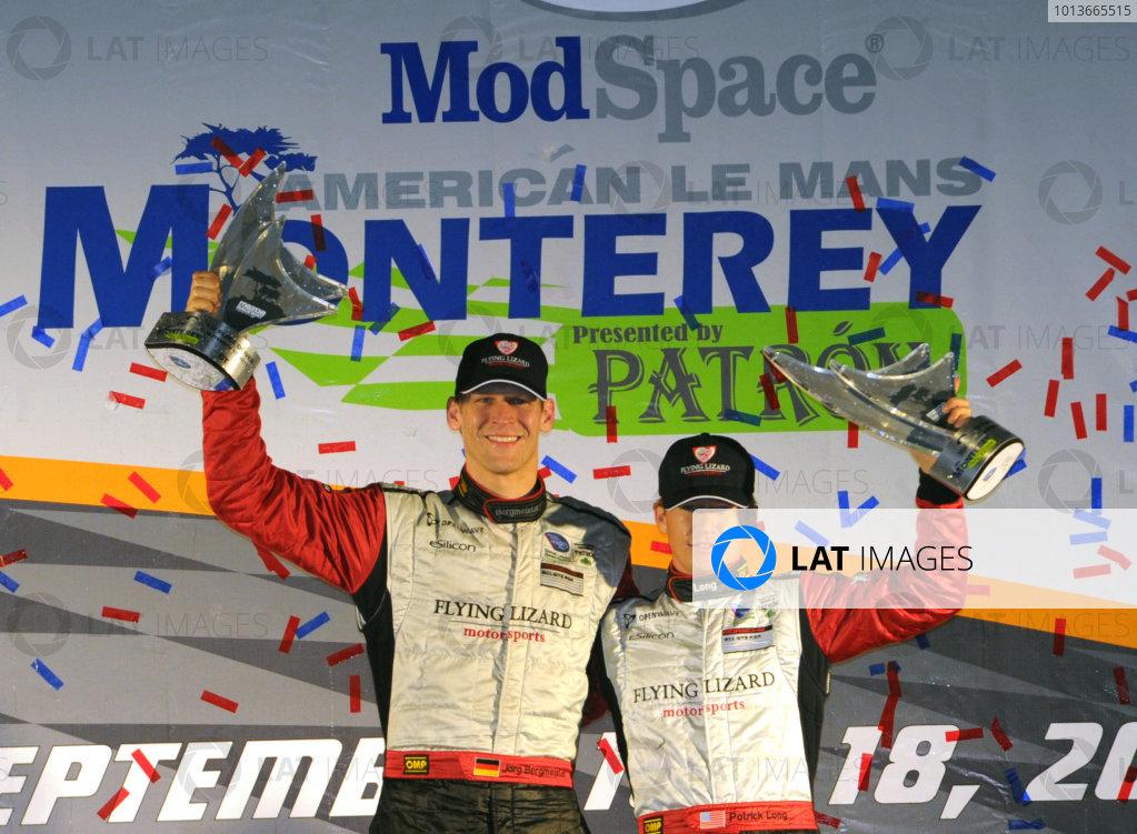 16-18 September, 2011, Monterey, California USA#45 Flying Lizard Motorsports wins GT2 class(c)2011,  Dan R. Boyd  LAT Photo USA