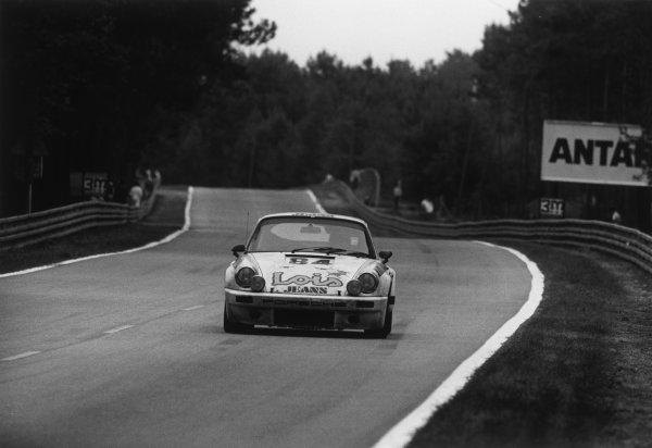 Le Mans, France. 14-15 June 1975 erhard Maurer/Christian Beez/Eugen StrŠhl (Porsche Carrera RS), 10th position, action. World Copyright: LAT PhotographicRef: 7593 - 18A.