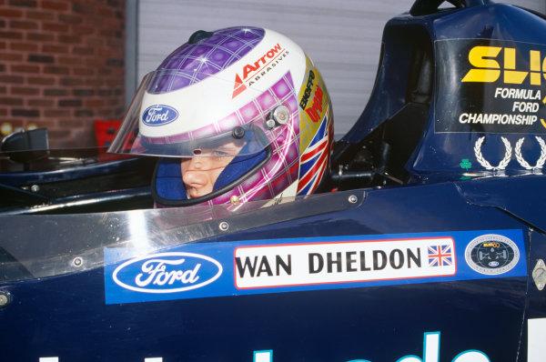 Brands Hatch, England.Dan Wheldon, portrait. World Copyright: LAT Photographic.Ref:  Colour Transparency.
