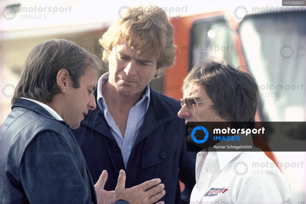 Guenther Schmid with Max Mosley and Bernie Ecclestone.