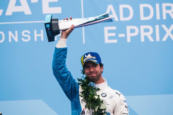 Antonio Felix da Costa (PRT), BMW I Andretti Motorsports celebrates victory on the podium