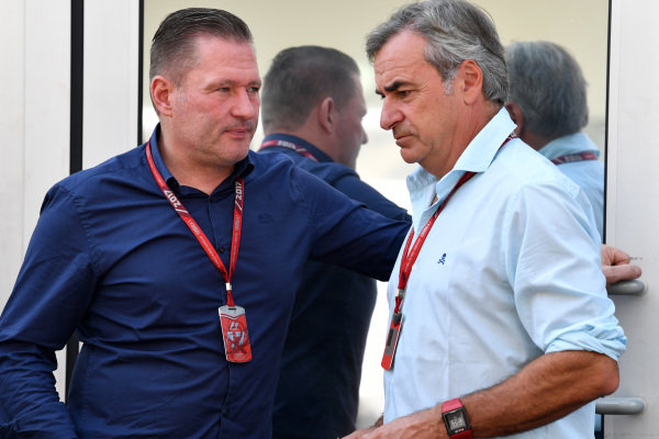 Jos Verstappen (NDL) and Carlos Sainz (ESP) at Formula One World Championship, Rd18, Mexican Grand Prix, Race, Circuit Hermanos Rodriguez, Mexico City, Mexico, Sunday 29 October 2017.