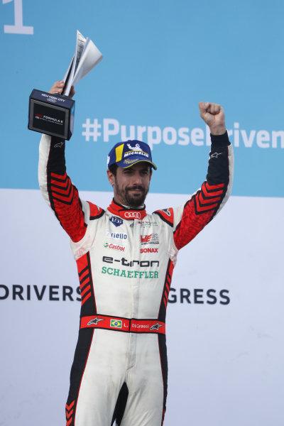 Lucas Di Grassi (BRA), Audi Sport ABT Schaeffler, 3rd position, lifts his trophy