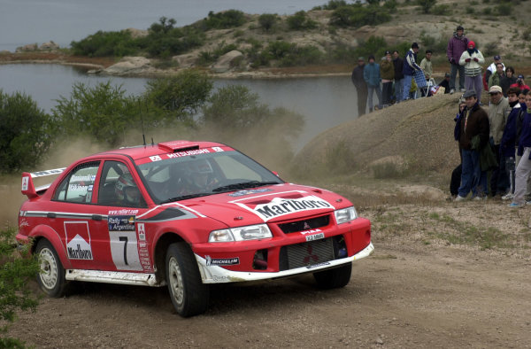 2001 World Rally Championship. ArgentinaMay 3rd-6th, 2001Tommi Makinen on stage five.Photo: Ralph Hardwick/LAT
