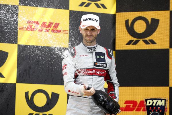 Podium: second place René Rast, Audi Sport Team Rosberg.
