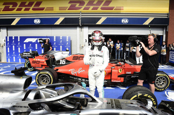 Lewis Hamilton, Mercedes AMG F1, 2nd position, in Parc Ferme