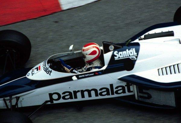 1983 Monaco Grand Prix.Monte Carlo, Monaco.12-15 May 1983.Nelson Piquet (Brabham BT52 BMW) 2nd position.World Copyright - LAT Photographic