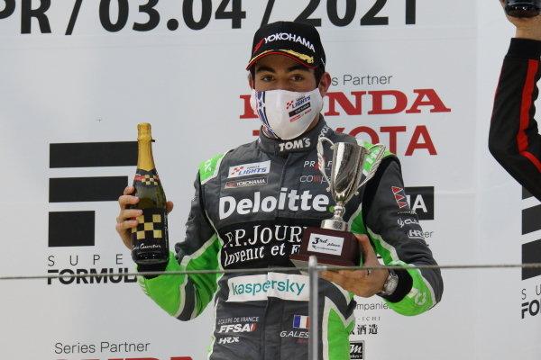 Rd1&3, Giuliano Alesi ( #36 TOM'S TAZ31 Dallara 320 Toyota), 3rd, celebrates on the podium