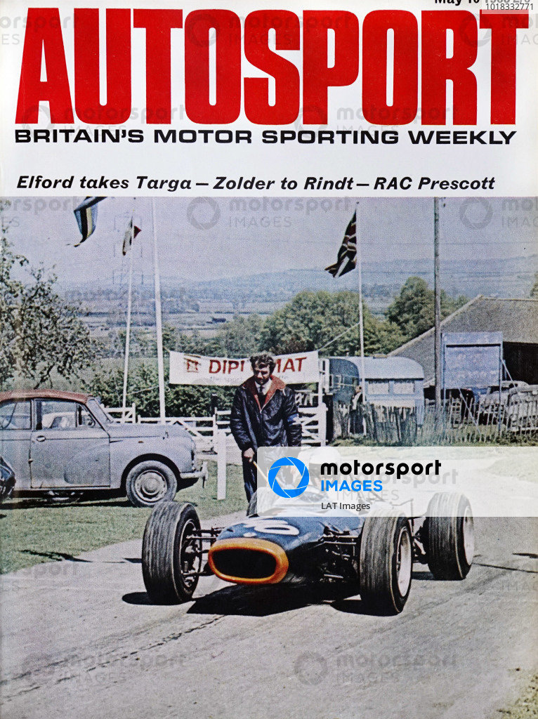 Cover of Autosport magazine, 10th May 1968