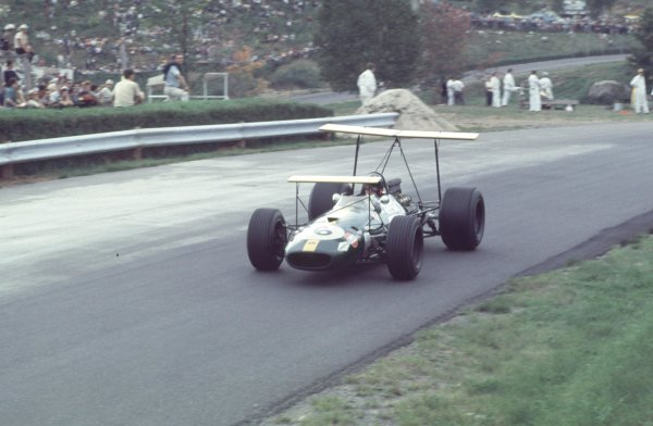 1968 Canadian Grand Prix.Mont-Tremblant, (St. Jovite), Quebec, Canada.20-22 September 1968.Jochen Rindt (Brabham BT26 Repco).Ref-68 CAN 37.World Copyright - LAT Photographic