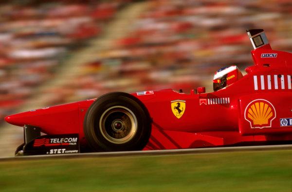 Hockenheim, German.26-28 July 1996.Michael Schumacher (Ferrari F310) 4th position.Ref-96 GER 16.World Copyright - LAT Photographic