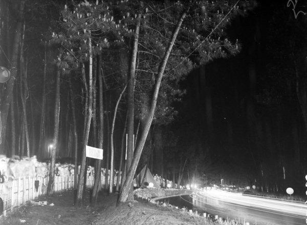 Light trails at night.