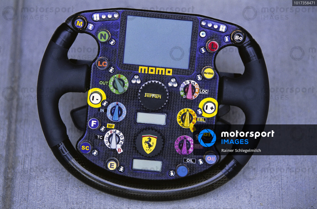 Ferrari F2003-GA steering wheel.