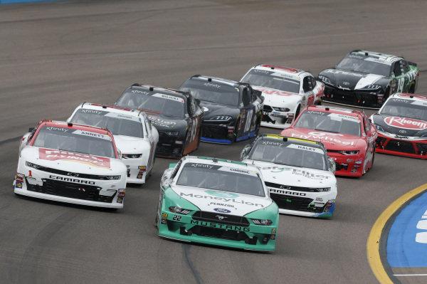 #22: Austin Cindric, Team Penske, Ford Mustang MoneyLion #1: Michael Annett, JR Motorsports, Chevrolet Camaro Chevrolet Pilot Flying J