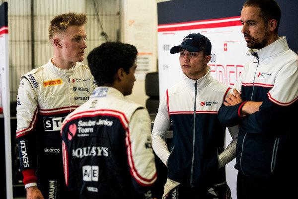 Lirim Zendeli (DEU) Sauber Junior Team by Charouz Fabio Scherer (CHE) Sauber Junior Team by Charouz Raoul Hyman (GBR) Sauber Junior Team by Charouz