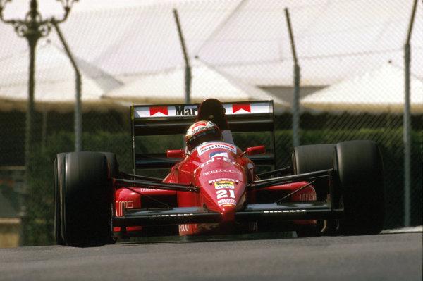 Monte Carlo, Monaco.4-7 May 1989.Alex Caffi (Dallara 189 Ford) 4th position at Casino.Ref-89 MON 23.World Copyright - LAT Photographic