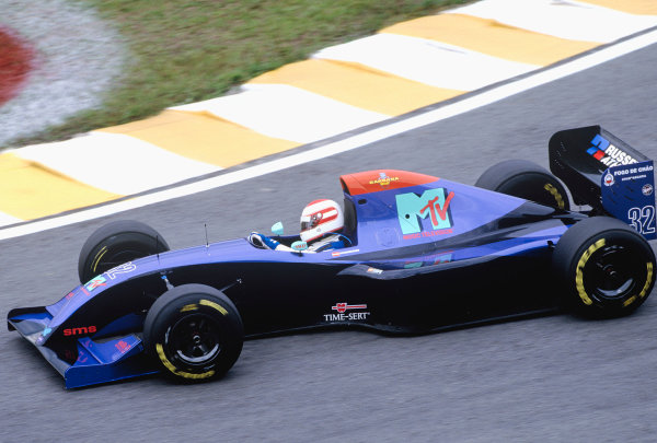 1994 Brazilian Grand Prix.Interlagos, Sao Paulo, Brazil. 25-27 March 1994.Roland Ratzenberger (Simtek S941 Ford).Ref-94 BRA 45.World Copyright - LAT Photographic