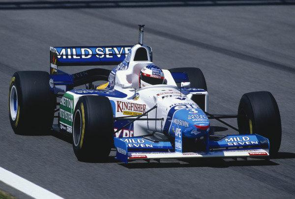 1996 Spanish Grand Prix.Catalunya, Barcelona, Spain. 31/5-2/6 1996.Jean Alesi (Benetton B196 Renault).Ref-96 ESP 27.World Copyright - LAT Photographic