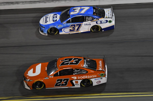 #23: Bubba Wallace, 23XI Racing, Toyota Camry #37: Ryan Preece, JTG Daugherty Racing, Chevrolet Camaro Cottonelle