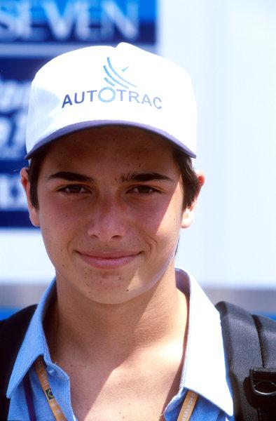 2001 Brazilian grand Prixinterlagos, Brazil. 1st August 2001.Nelson Piquet Junior - portrait.World Copyright: Charles Coates/LAT Photographic.
