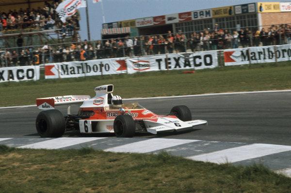 1974 Belgian Grand Prix  Nivelles-Baulers, Belgium. 10-12th May 1974.  Denny Hulme, McLaren M23 Ford, 6th position.  Ref: 74BEL04. World Copyright: LAT Photographic