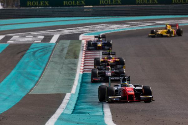 2017 FIA Formula 2 Round 11. Yas Marina Circuit, Abu Dhabi, United Arab Emirates. Sunday 26 November 2017. Sergio Sette Camara (BRA, MP Motorsport).  Photo: Zak Mauger/FIA Formula 2. ref: Digital Image _X0W9876