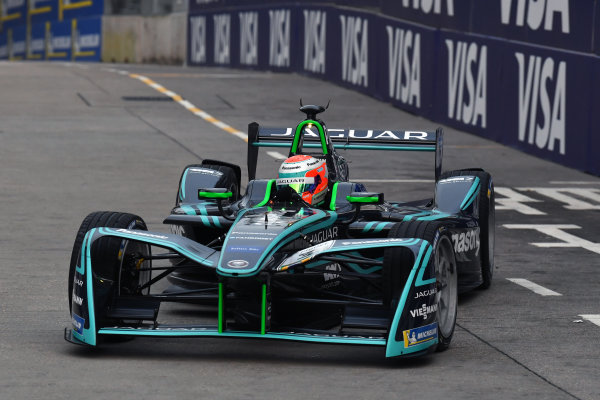 2017/2018 FIA Formula E Championship. Round 1 - Hong Kong, China. Saturday 02 December 2018. Nelson Piquet Jr. (BRA), Panasonic Jaguar Racing, Jaguar I-Type II. Photo: Mark Sutton/LAT/Formula E ref: Digital Image DSC_8376