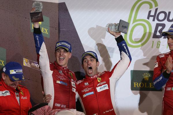 2017 FIA World Endurance Championship, Bahrain International Circuit, Bahrain. 16th-18th November 2017, #51 AF Corse Ferrari 488 GTE: James Calado, Alessandro Pier Guidi,   World Copyright. JEP/LAT Images