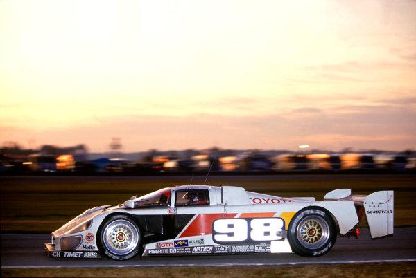 Daytona 24 hours, Florida, USA. 1st - 2nd February 1992.Rocky Moran/P. J. Jones/Mark Dismore (Eagle MkIII Toyota), 4th position, action. World Copyright: LAT PhotographicRef: 92IMSADAY04