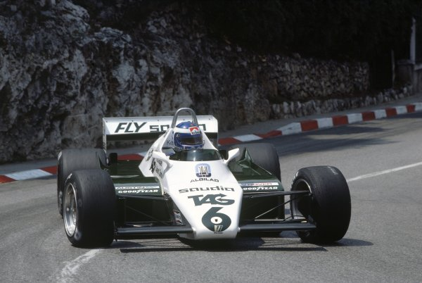 1982 Monaco Grand Prix.Monte Carlo, Monaco. 20-23 May 1982.Keke Rosberg (Williams FW08-Ford Cosworth), retired.World Copyright: LAT PhotographicRef: 35mm transparency 82MON01
