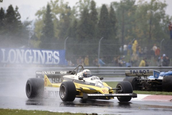 1981 Canadian Grand PrixMontreal, Canada. 25-27 September 1981.Alain Prost (Renault RE30), retired. Ref - 81CAN09.World Copyright - LAT Photographic