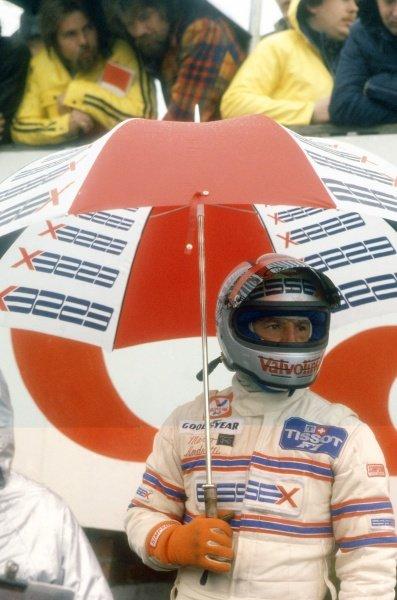 1980 Belgian Grand Prix.Zolder, Belgium. 2-4 May 1980.Mario Andretti (Lotus 81-Ford Cosworth), retired. Portrait in helmet.World Copyright: LAT PhotographicRef: 35mm transparency 80BEL15
